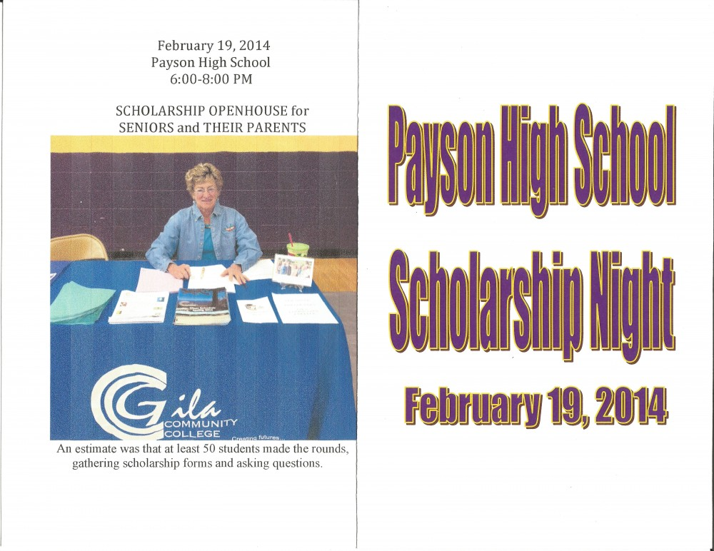 Scholarship Night at Payson High – Friends of Rim Country